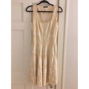 Alexander McQueen cream jacquard dress XL